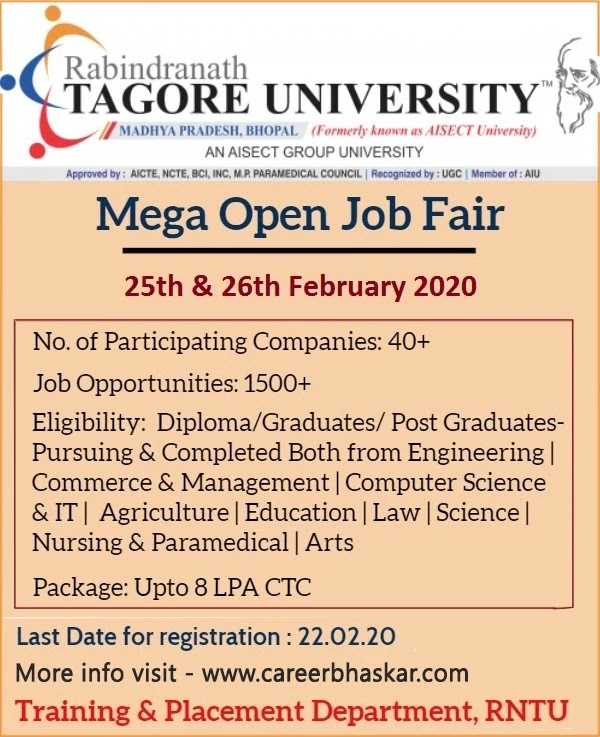 RNTU - Mega Open Job Fair
