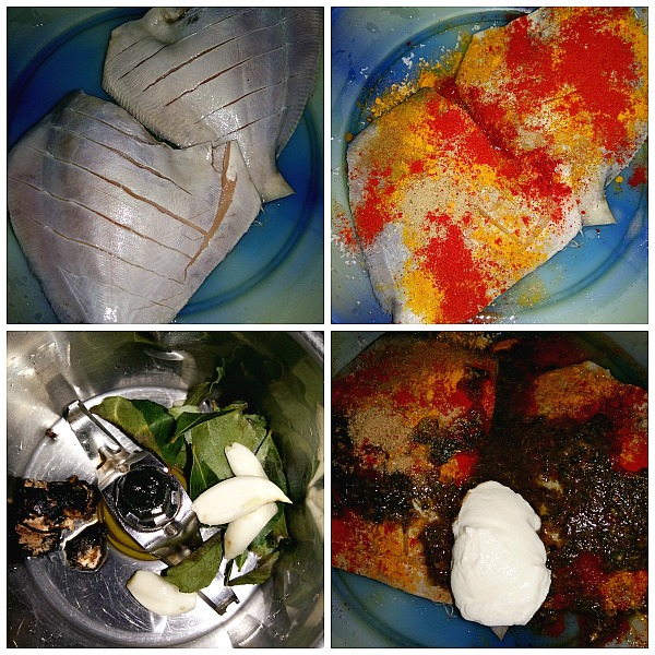 Step by Step pictures of how to make Masala Fried Fish (Grilled Pomfret)