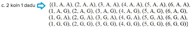 c. 2 koin 1 dadu