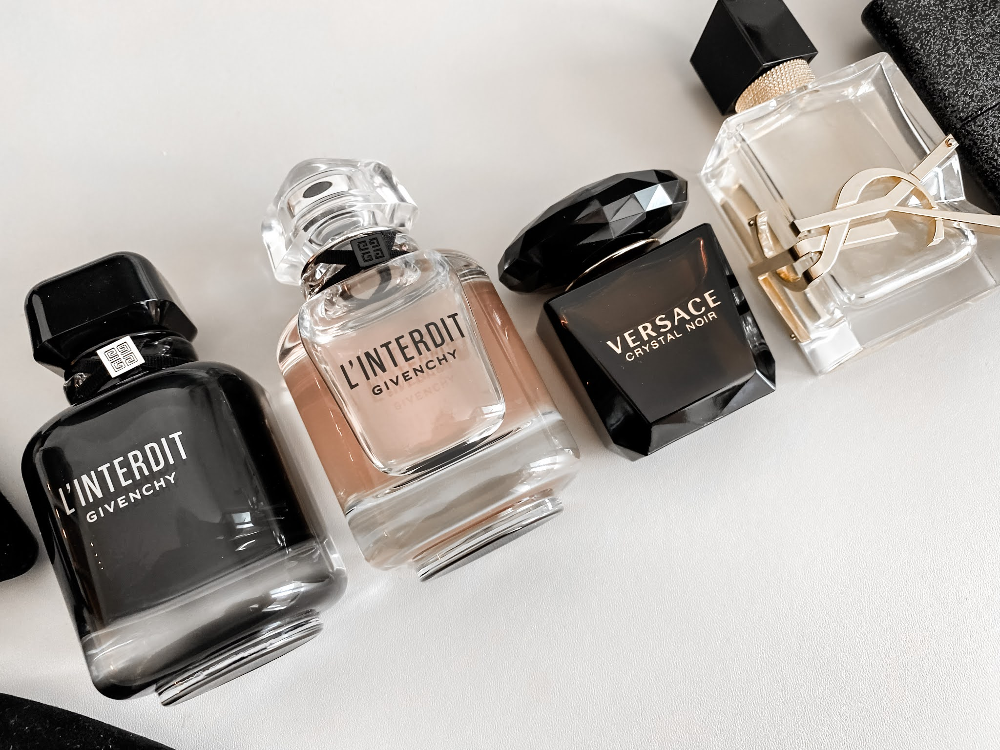 Perfume Collection Evening Edition with YSL Libre, Black Opium, Versace Crystal Noir
