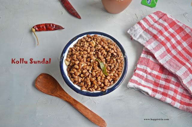 Horse Gram Sundal Recipe | Kollu Sundal