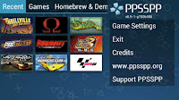 juegos ppsspp android interfaz