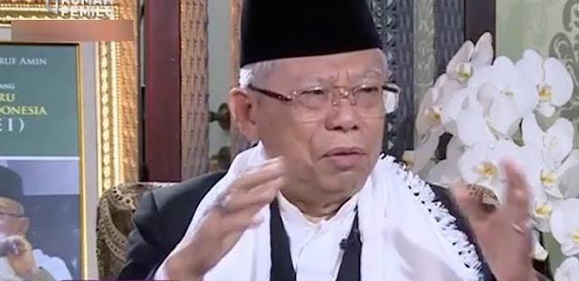 Ma'ruf Amin Tuding Jawa Barat Paling Kuat Hoaksnya