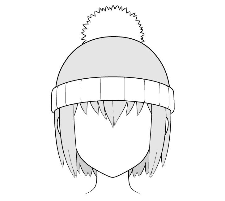 Gambar topi musim dingin anime