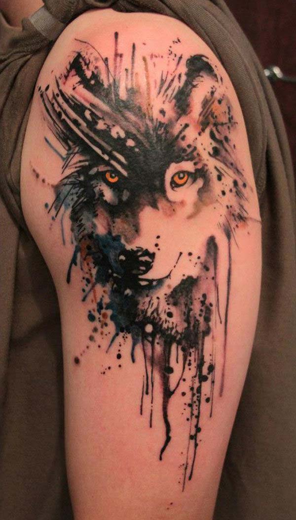 watercolor wolf tattoo tumblr