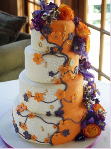 Orange and Lilac Original Cake. Original Cakes.