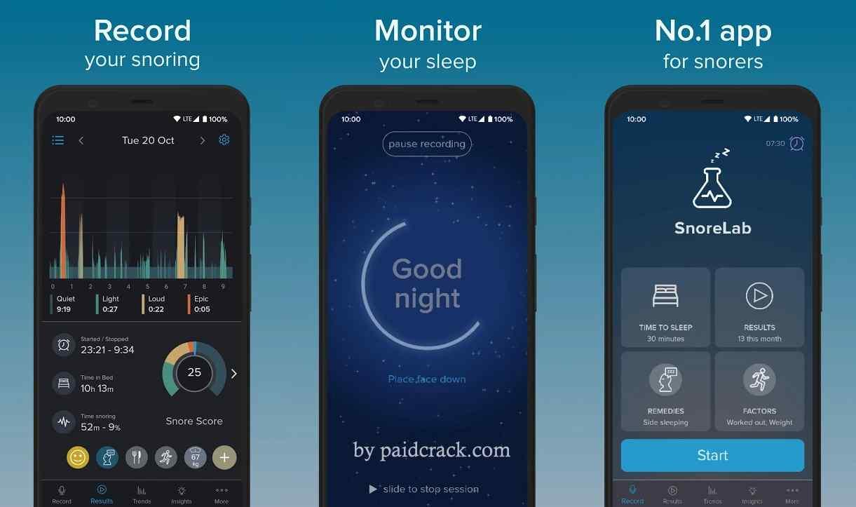 SnoreLab - Record Your Snoring Premium Mod Apk 2.15.3