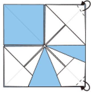 Bước 8: Gấp góc giấy về phía mặt sau