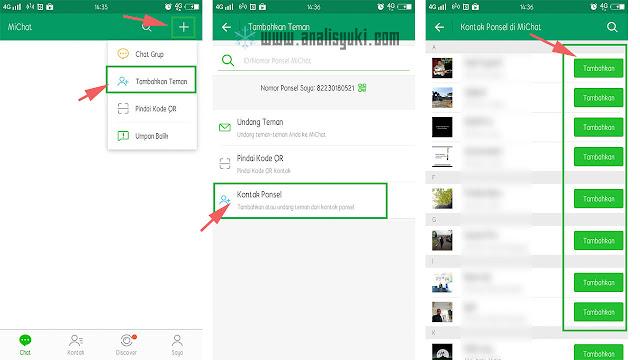 Cara Menambahkan Teman di MiChat