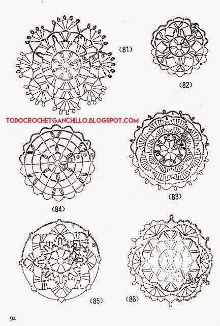25 Patrones de Grannys Circulares / Apliques Crochet