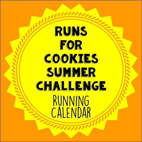 Cookies Summer Challenge Running Calendar