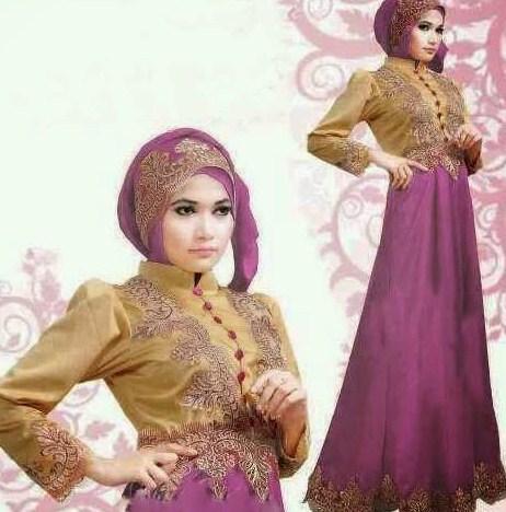 30 Model Baju Muslim Brokat Terbaru 2018 Desain Bagus Dan Mewah