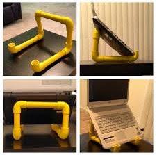 Cara membuat dudukan laptop, PC, Handphone dari paralon PVC