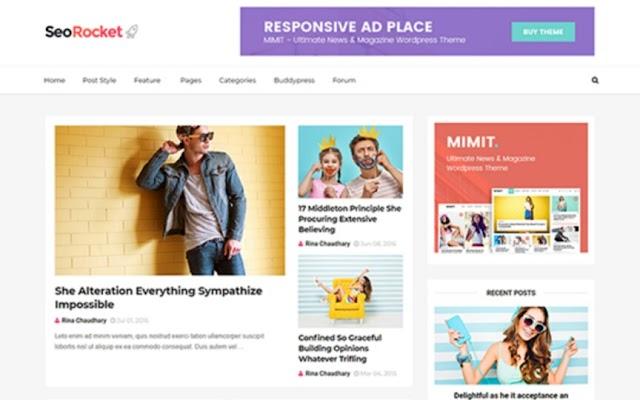 SEO Rocket Free Premium Blogger Template Download