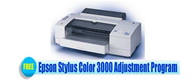 Epson Stylus Color 3000 Adjustment Program