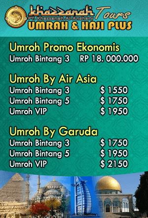 Biaya Paket Umroh November 2016