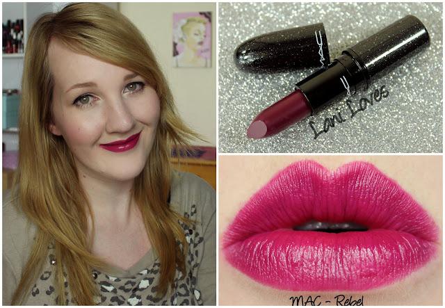 MAC Rebel lipstick swatch