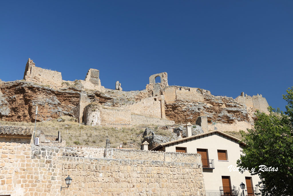 Vistas del Castillo desde Zorita de los Canes, Guadalajara