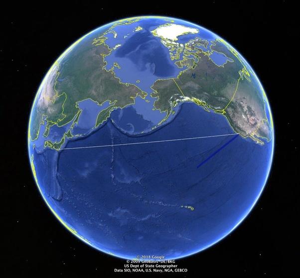 Mengapa Pesawat Tidak Lewat Samudra Pasifik?