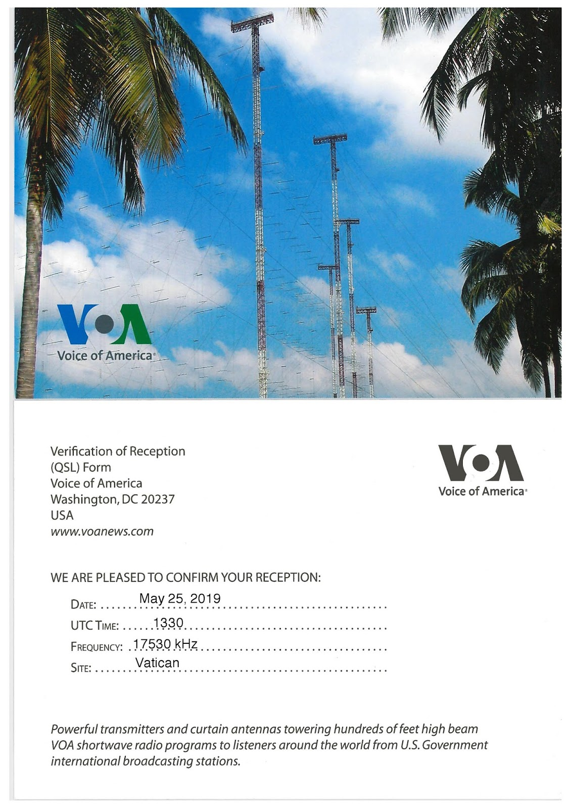 Voa frequency on dstv