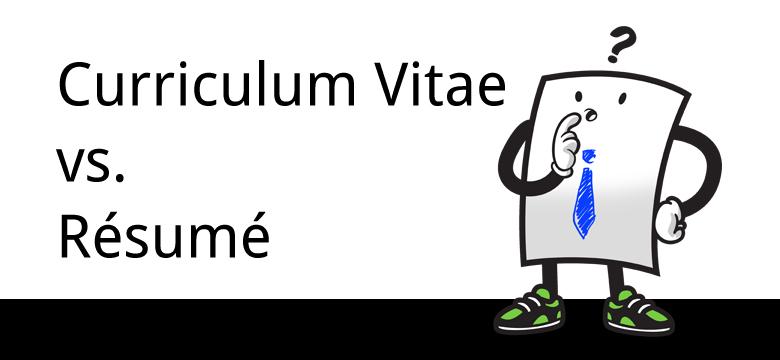 know how curriculum vitae vs resume