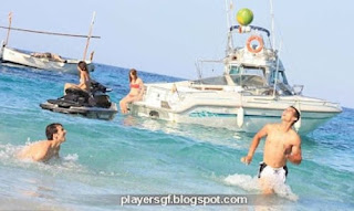 Another Type Of Ball Game Nadal Also Went Into Shallower Waters To Play Ball With Friend