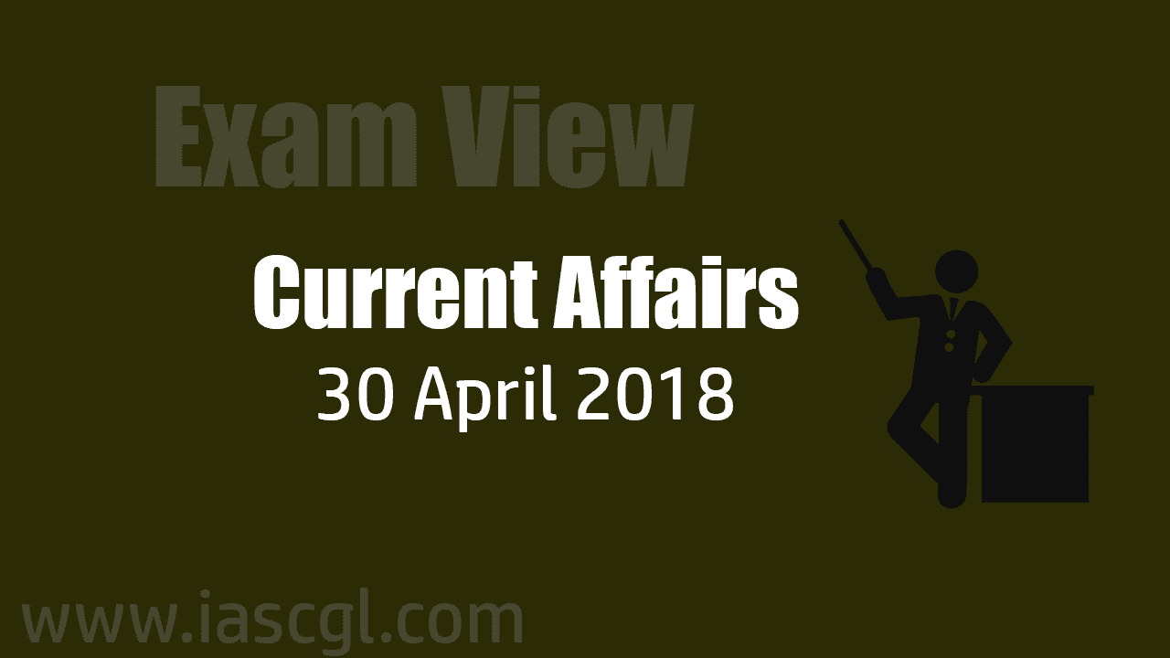 Current Affair 30 April 2018