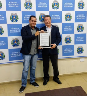 Câmara concede Moção de Aplausos ao empresário Hélio Chicaoka, pelos 50 anos de atividades