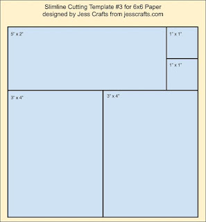 Slimline from 6x6 Paper Template #3 by Jess Crafts
