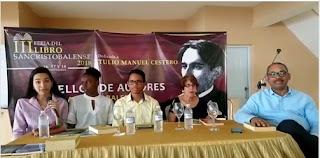 Egresados de IPL presentan sus obras en III Feria de Libro Sancristobalense.