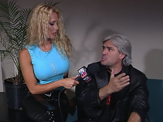 WCW - The Great American Bash 2000 - Pamela Paulshock interviews grey-haired Eric Bischoff