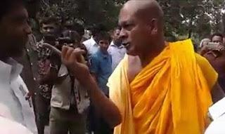 Ampitiye Sumanarathana Thera threatens Grama Sevaka In Batticaloa