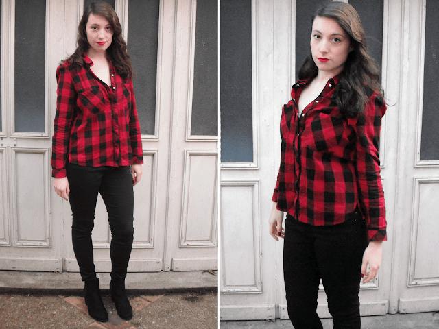 1 Pièce, 2 Looks : La chemise à carreaux tenue 1