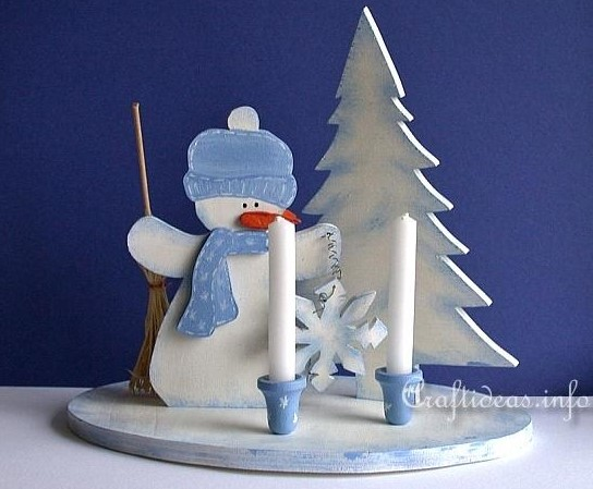 Lets Build The Wooden Snowman Crafts