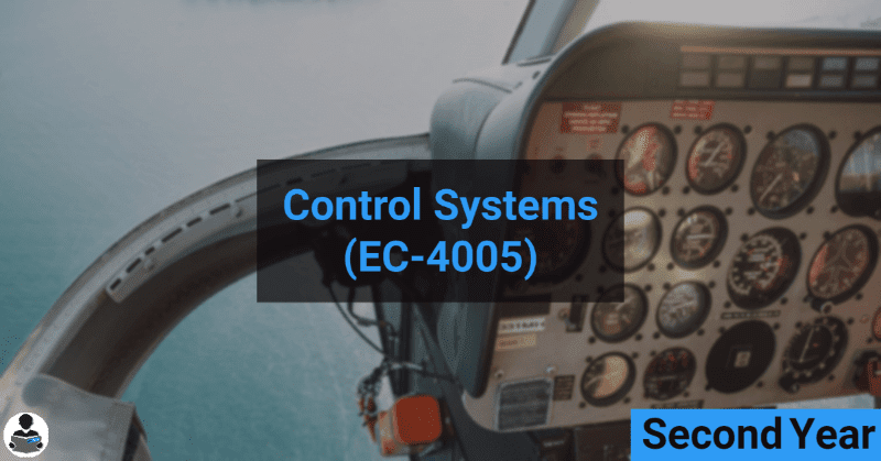 Control systems (EC-4005) RGPV notes CBGS Bachelor of engineering