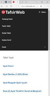 Tampilan Mobile TafsirWeb.com