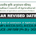 Extended Date of submission for online application for ICAR-UG, PG & JRF/SRF (Ph.d) 2020