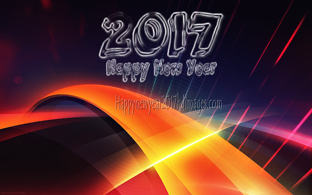 New Year 2017 3D Graphics Background
