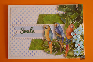 Handmade Spring Linky Party 2019 - card pappagalli - MLI