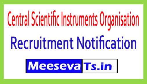 Central Scientific Instruments Organisation CSIO Recruitment