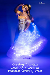 Princess serenity light up dress coplay tutorial