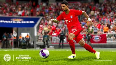 Serge Gnabry beraksi dalam game eFootball PES 2020
