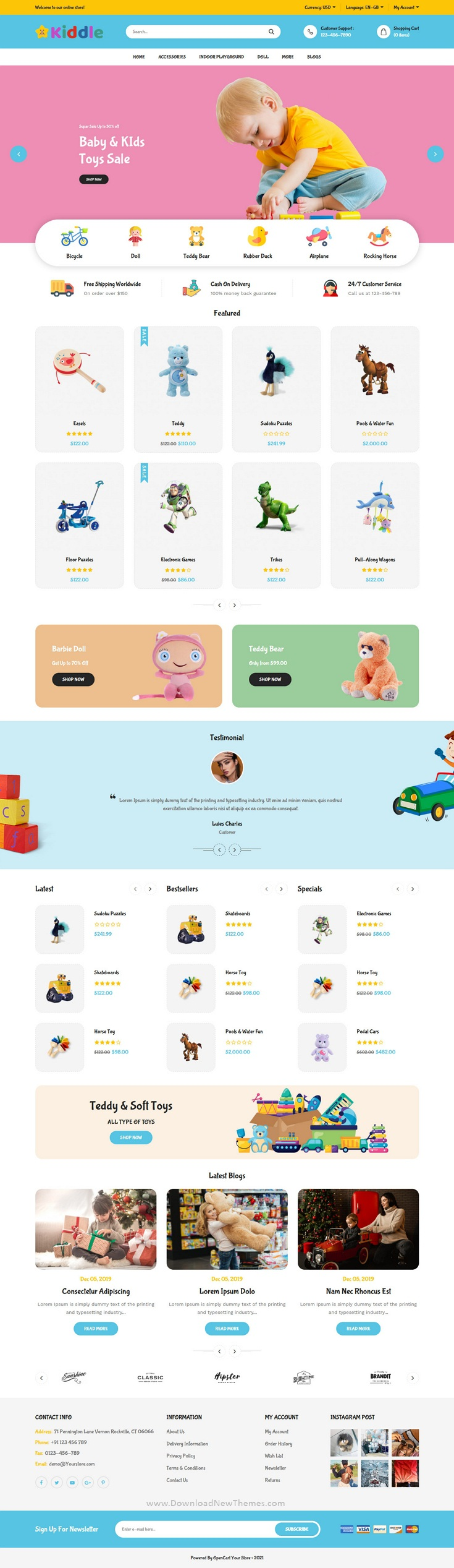 Kids Shop Responsive OpenCart Theme