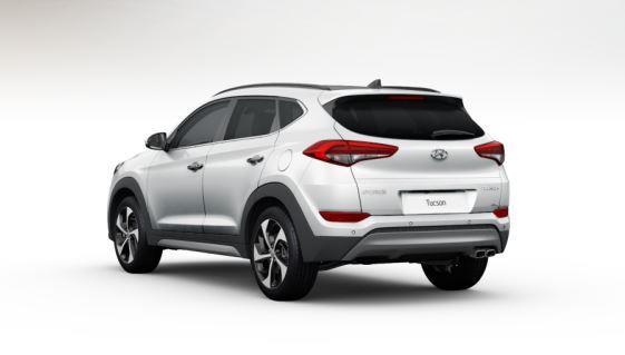 colori Nuova Hyundai Tucson 2016 colore bianco - polar white retro dietro posteriore