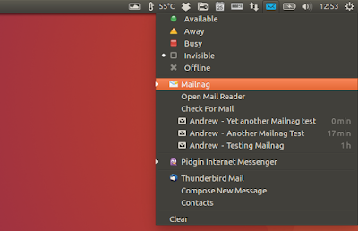 Mailnag email notifier Unity