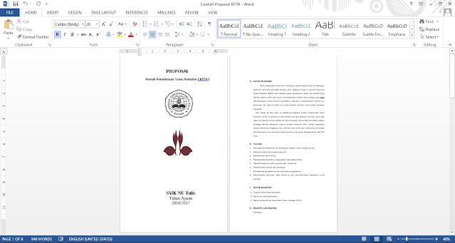 Contoh Proposal Kemah Penerimaan Tamu Ambalan / KPTA