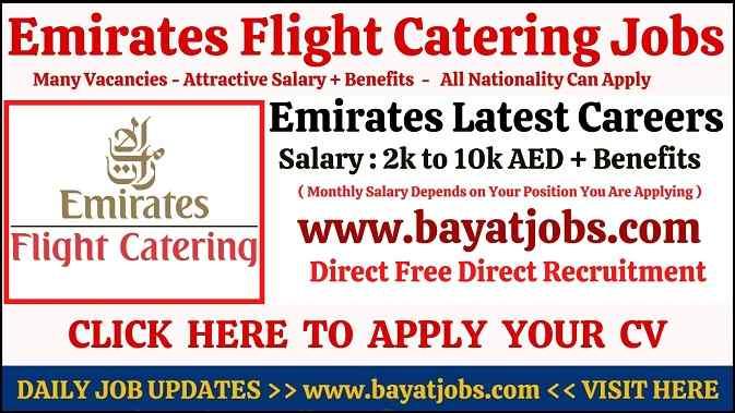 Emirates Flight Catering Careers in Dubai Latest Jobs at EKFC