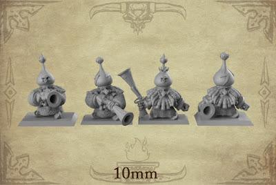 x24 Dwarf Gunners, 1 Sergeant, and 1 Dwarf Standard Bearer