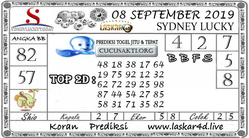 Prediksi Sydney Lucky Today LASKAR4D 08 SEPTEMBER 2020