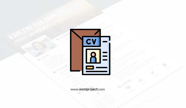 contoh desain cv